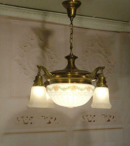 Antique Glass Chandelier Ebay