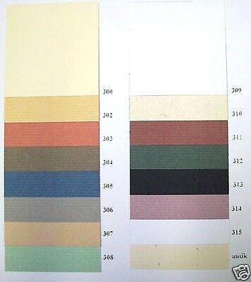 BUGRA Bütten / Vorsatzpapier 4 Bogen freie Farbwahl