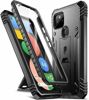 Poetic For Google Pixel 4a 5G Kickstand Case,Dual Layer Shockproof Cover Black