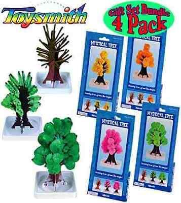 (set of 4) MYSTICAL TREE magic growing pink green yellow orange science kit toy - Magic Science Kit