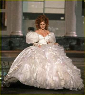 Enchanted Giselle Dress TEAL PRINCESS Adult Costume Cosplay Wedding Ball Gown!aa (Giselle Enchanted Costume)