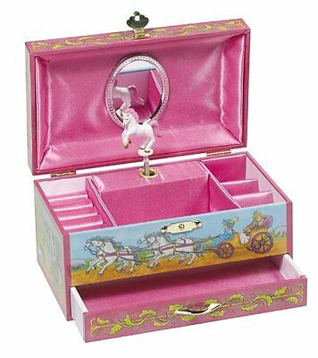 Schmuckkästchen Musikspieldose Spieluhr Schmuckschatulle Pferd Holz Mädchen Rosa