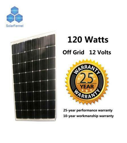 120 Watt Solar Panel Ebay