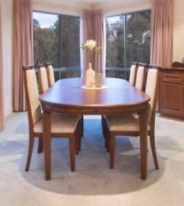 8 Seater Dining Table and Chairs - Excellent Condition