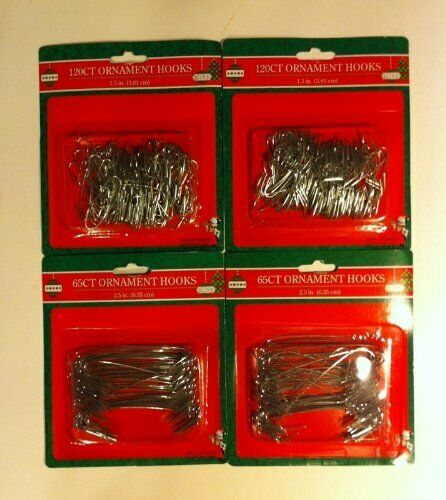370 PIECES SILVER METAL WIRE CHRISTMAS ORNAMENT HOOKS