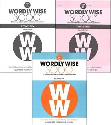 4TH EDITION Wordly Wise 3000 Grade 5 - Student, Key and Test
