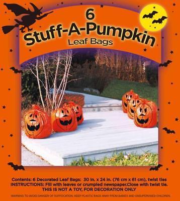 6 pack Baby Stuff-A-Pumpkin Lawn & Leaf Bag Halloween Decoration 30