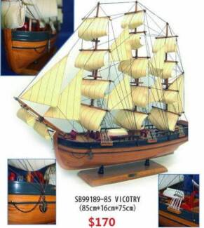 MARINE WOODEN BOATS SAILBOATS YACHTS MODEL DECORATION Richlands Brisbane South West Preview