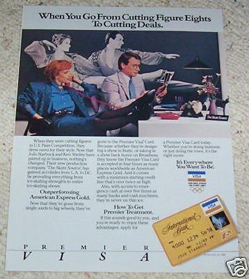 1987 ad page - VISA credit card JOJO STARBUCK ice skater Vintage PRINT AD