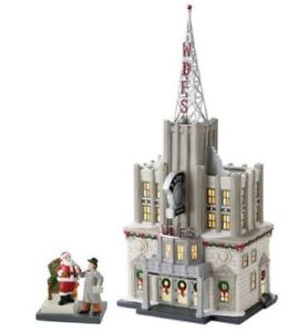 Rare Retired 14.5in 2010 Dept56 Christmas In The City WDFS Radio