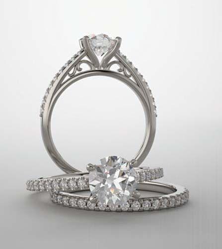 GIA 1.01 carat Round Diamond Engagement Wedding 14k White Gold Ring H SI2