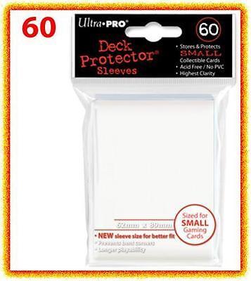 60 Ultra Pro DECK PROTECTOR Card Sleeves White Yu-Gi-Oh Vanguard Card Protectors