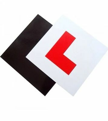 Genuine 2 x FULLY Magnetic Exterior Car New Learner L Plates  Secure & Safe