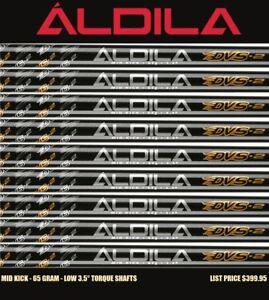 7 Cobra Aldila DVS2 65 Regular Flex .355 Taper Tip Graphite Iron 4-PW Shafts New