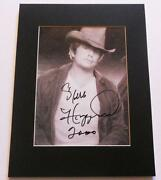 Merle Haggard Signed