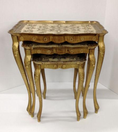 Antique Wood Nesting Tables Set Of 3 ~ Antique nesting tables ebay