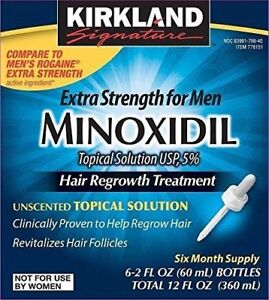 Minoxidil - Men's Hair Regrowth - 6 Months Supply