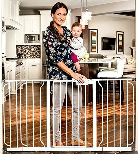 Regalo 58-Inch Extra WideSpan Walk Through Baby Gate, Bonus