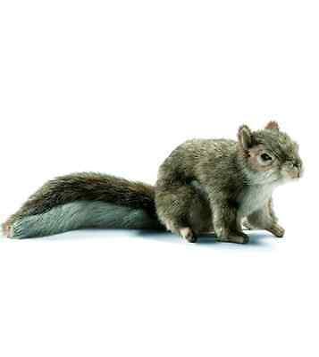 Hansa Sitting Gray Squirrel 9in Plush Animal Toys