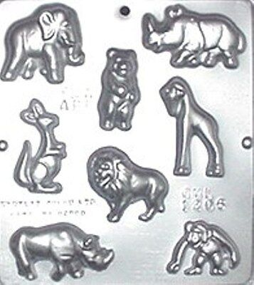 JUNGLE ZOO ANIMAL BITES CHOCOLATE CANDY MOLD DIY BABY BIRTHDAY PARTY FAVORS