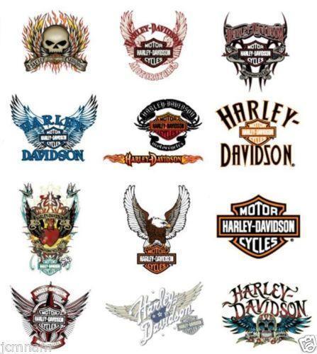 Harley davidson temporary tattoos ebay for Free harley davidson tattoo designs