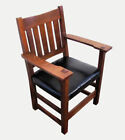 Oak Armchairs Stickley Antique Chairs (1900-1950)