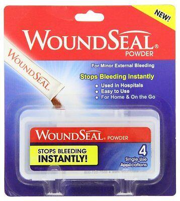 2 Pack   Woundseal Powder 4 Ea  Stops Bleeding Instantly