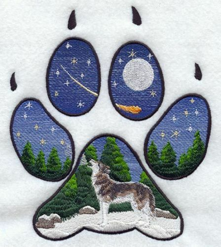 Embroidered Sweatshirt - Wolf Track M1550