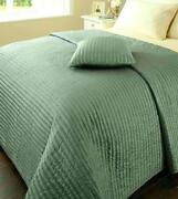 Duck Egg Quilted Bedspreads
