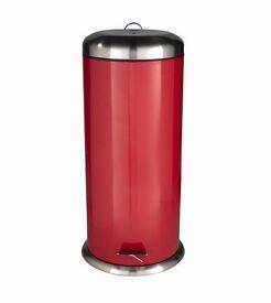 30l dome bin in red