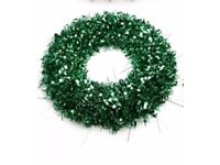 35 cm LED Light-Up Christmas Tinsel Wreath NEW In Box