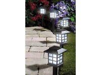 Brand New In Box Garden Oriental Solar Lights Black Pack of 10 Look RRP £29.99