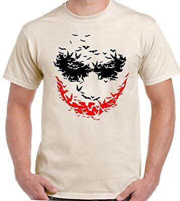 Fledermaus Gesicht - Herren T-Shirt der Joker Batman Rises Heath Ledger