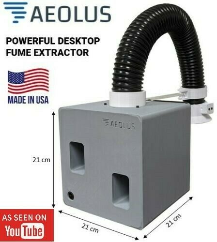 AEOLUS - Dual Centrifugal - Powerful Soldering Fume Extractor - Made in the USA