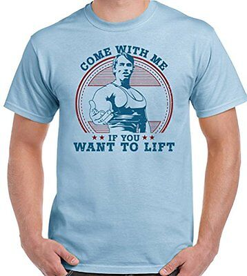 As Worn By Arnold Schwarzenegger Come With Me If You Want To Lift   Mens T Shirt