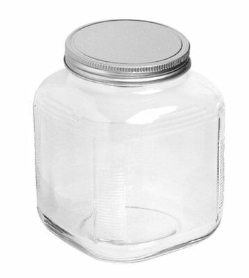 Anchor Hocking 1-Gallon Cracker Jar with Brushed Aluminum Li