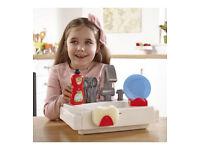 Wash Up Kitchen Sink Playsets 14 Accessories Real Working Water Pretend Kids Toy
