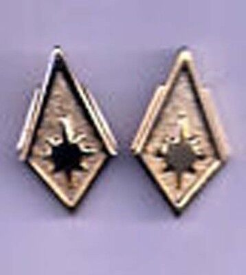 Battlestar Galactica Lt Colonel Uniform Rank Pips/Pin Set of 2-FREE S&H(BGPI-24)