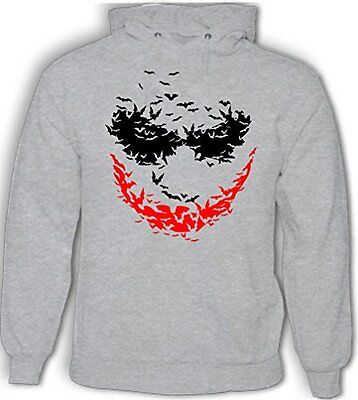 Fledermaus Gesicht - Herren Kapuzenpullover der Joker Batman Rises Heath Ledger