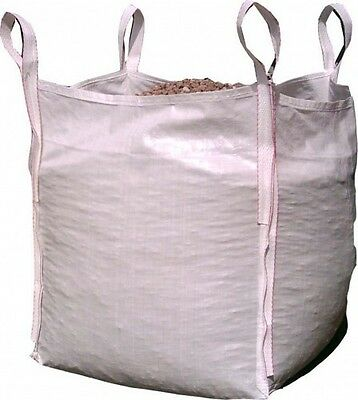 5 x New FIBC Bulk Builders Garden Jumbo 1 ton tonne Bag Waste Sacks 87x87x87cms