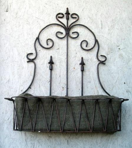 Wrought Iron Wall Planter Ebay