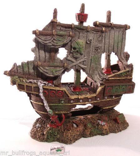 Aquarium pirate ebay for Fish tank pirate ship