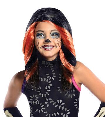 Girls Skelita Calaveras Monster High Cartoon Wig - Skelita Halloween Wig