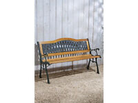 Cast iron and wooden new garden bench