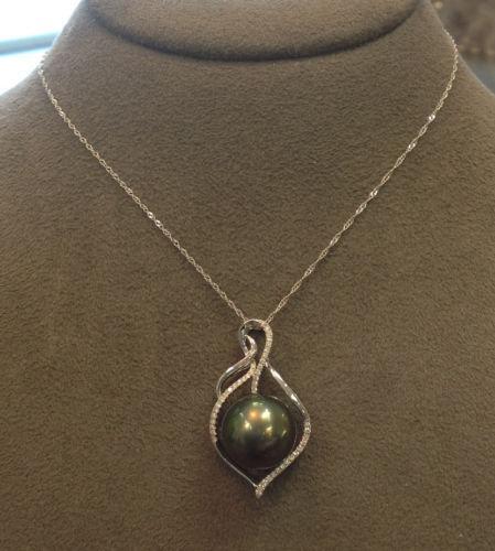 Pearl And Diamond Pendant Ebay