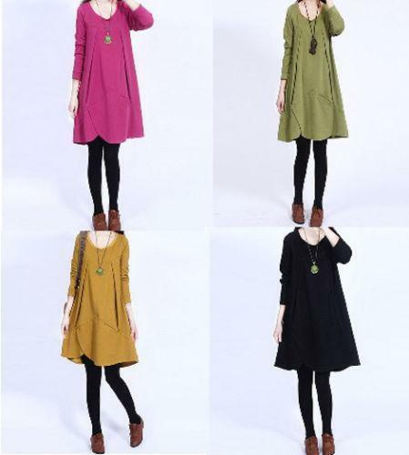 Popular  Spring Korean Women Dress Women Fashion Casual Longsleeved Dress Bow