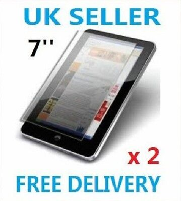 "2 x PROFESSIONAL SCREEN PROTECTOR FOR 7"" INCH ANDROID TABLET PC EPAD APAD UK"
