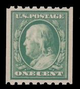 US Stamp 1 Cent Franklin