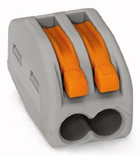 Wago 222-412 Compact Splicing Connector 2-Conductor Terminal Block Box-50 29142