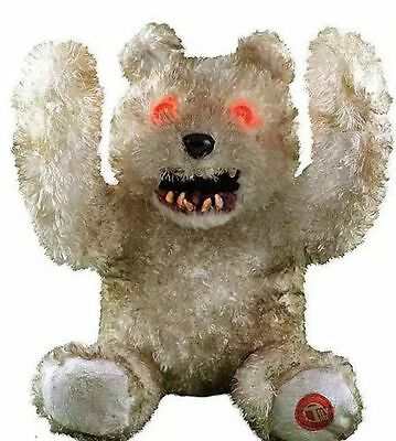 Animated Creepy Smile Teddy Bear Halloween Prop Decor Scary Haunted House (Creepy Smile Halloween)